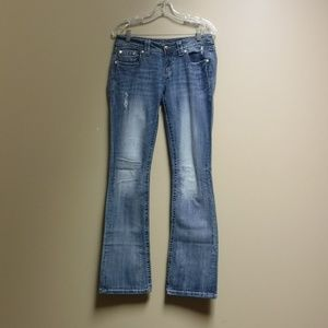 Light Wash Miss Me Jeans Boot Style Size 29
